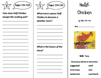 Half Chicken Trifold - Storytown 3rd Grade Unit 4 Week 4