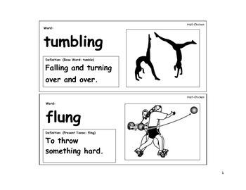 Half-Chicken Vocabulary Cards