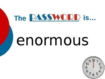 Half Chicken - Vocabulary Password