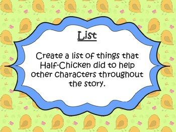Half-Chicken Writing Centers