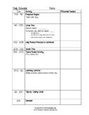 Half Day Schedule Template