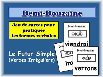 French Simple Future (Irregular) Card Game, Half Dozen