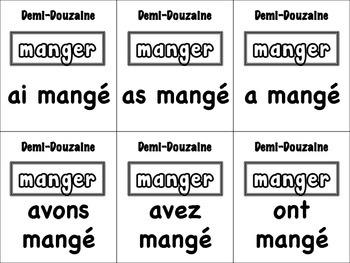 French Passé Composé (Avoir & Être) Card Game, Half Dozen