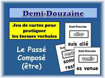 French Passé Composé (Être) Card Game, Half Dozen