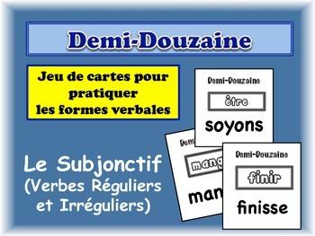 French Subjunctive (Irregular) Card Game, Half Dozen