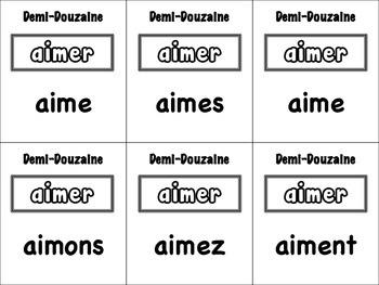 French Regular ER Verbs Card Game, Half Dozen