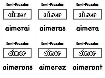 French Simple Future (Regular) Card Game, Half Dozen