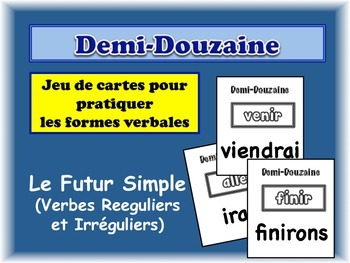French Simple Future (Regular & Irregular) Card Game, Half Dozen