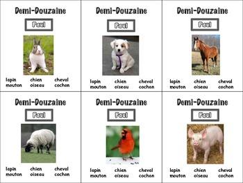 French Animals Card Game, Half Dozen