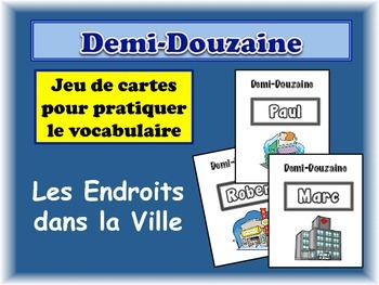 French City Locations Card Game, Half Dozen