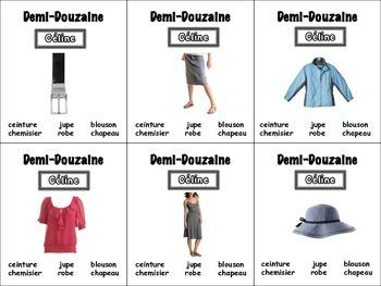 French Clothing Card Game, Half Dozen