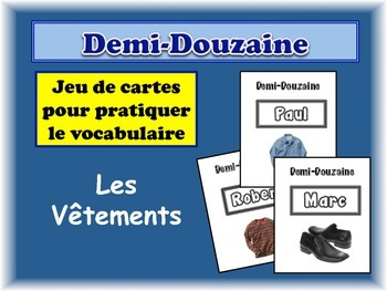 French Clothing Card Game, Half Dozen