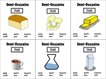 French Food and Drinks Card Game, Half Dozen