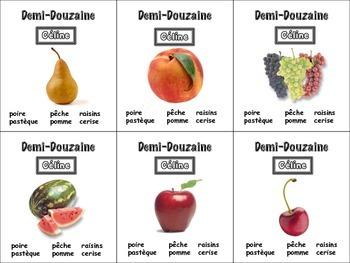 French Fruit Card Game, Half Dozen
