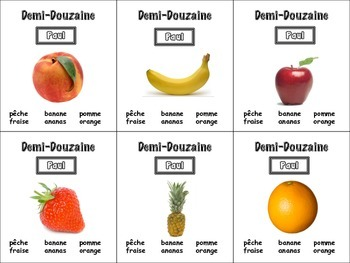 French Fruit Card Game, Half Dozen