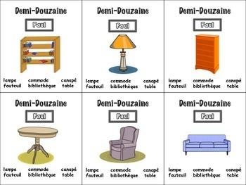 French Furniture Card Game, Half Dozen
