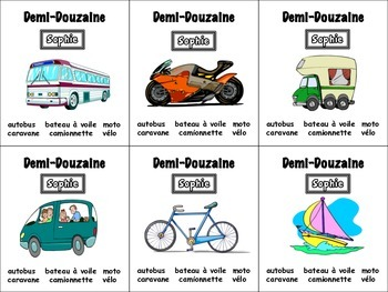 French Transportation Card Game, Half Dozen