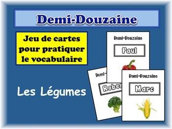 French Vegetables Card Game, Half Dozen