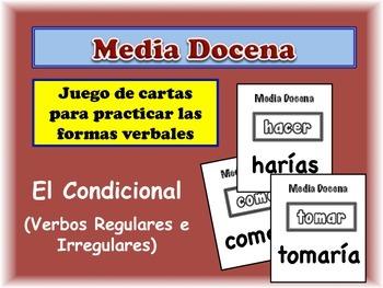 Spanish Conditional (Regular & Irregular) Card Game, Half Dozen