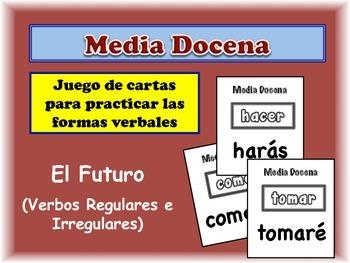 Spanish Simple Future (Regular & Irregular) Card Game, Half Dozen
