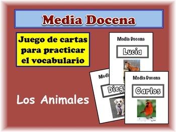 Spanish Animals Card Game, Half Dozen