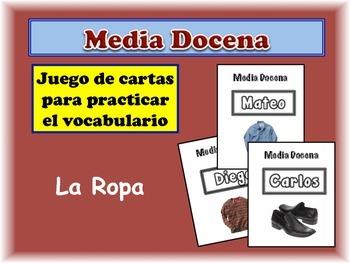 Spanish Clothing Card Game, Half Dozen