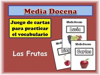 Spanish Fruits Card Game, Half Dozen