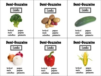 Spanish Vegetables Card Game, Half Dozen