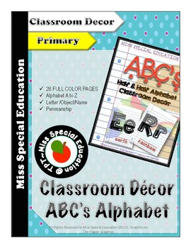 DOLLAR DEALS: Half & Half Alphabet - Classroom DECOR - Alphabet