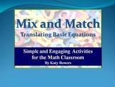 Half & Half Worksheet - solving one step equations by mult