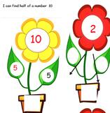 Half Halving flowers to 10