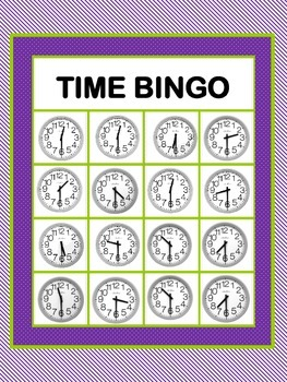 Time Bingo-Half Hour