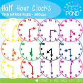Half Hour Clocks - Graphics From the POnd - For Teaching