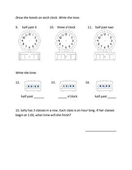 Half Hour/Hour Test