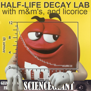 Radioactive dating lab with m&ms candy