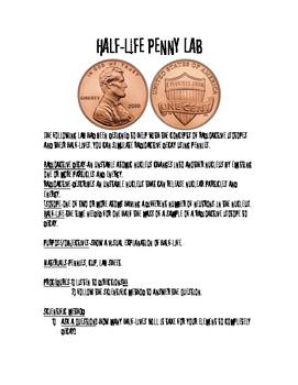 Half-Life Penny Lab-Radioactive Decay