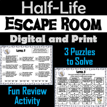 Half-Life Problems: Physics Escape Room Chemistry