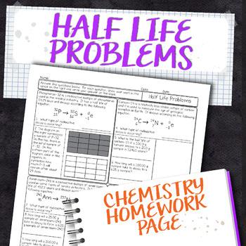 Half Life Worksheet Teaching Resources   Teachers Pay Teachers