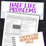 Half Life Radioactivity Chemistry Homework Worksheet