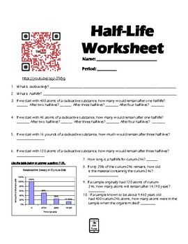 Half-Life Worksheet