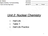 Half-Life for Chemistry