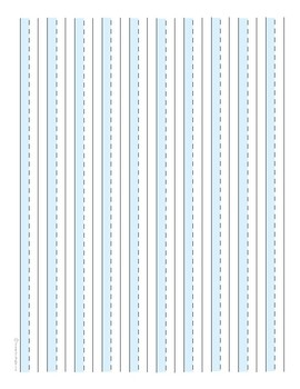Half-Lined Handwriting Paper With Shaded Bars