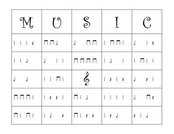 Half Note Bingo