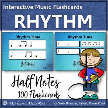 Half Note - Interactive Rhythm Flash Cards