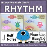 Rhythm Game: Half Note Interactive Music Game {Munching Monsters}