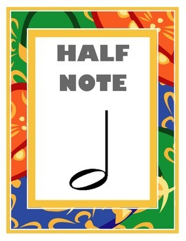 Half Note Poster