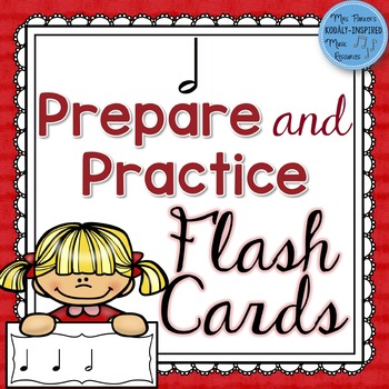 Half Note Prepare and Practice Flash Cards