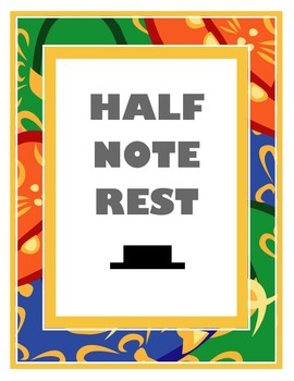 Half Note Rest Poster