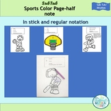 Half Note Rhythm Sports Color Pages