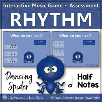 Half Notes - Dancing Spider {Interactive Music Game & Assessment}